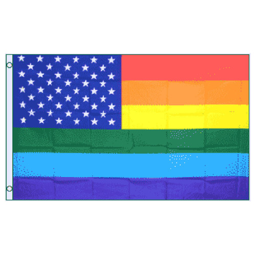 USA Rainbow Flag 3ft x 5ft Printed Polyester