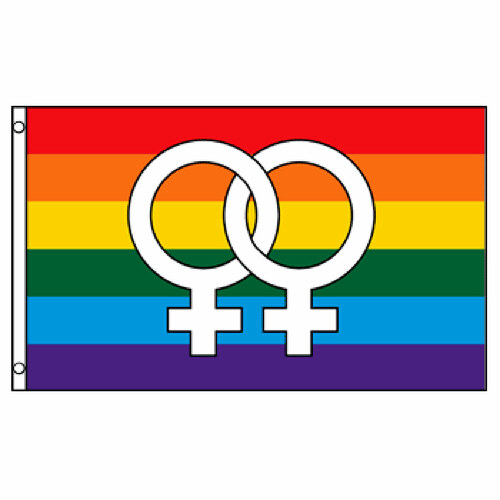 Double Venus Rainbow Flag 3ft x 5ft Printed Polyester