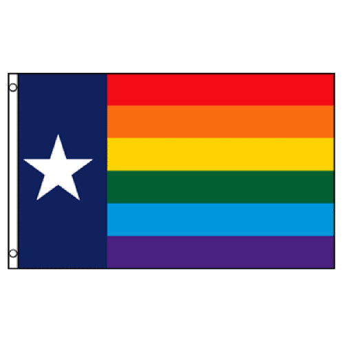 Texas Rainbow Flag 3ft x 5ft Printed Polyester