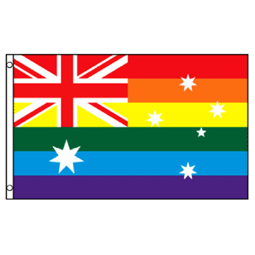 Australia Rainbow Flag 3ft x 5ft Printed Polyester