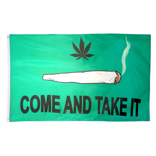Come & Take It Spliff Flag 3ft x 5ft Printed Polyester