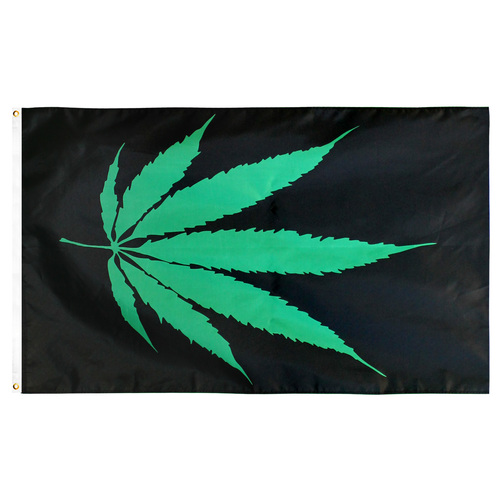 Marijuana Leaf Flag 3ft x 5ft Printed Polyester