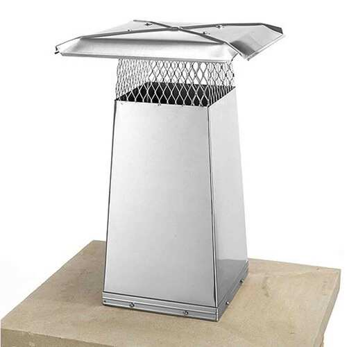 8'' x 8'' Stainless Steel Flue Stretcher - 34'' High