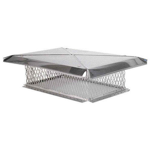 13'' x 20'' Gelco Stainless Steel Chimney Cap - 3-4'' Mesh-8'' Mesh Height