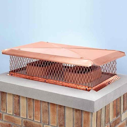 17'' x 41'' Gelco Copper Multi-Flue Chimney Cap
