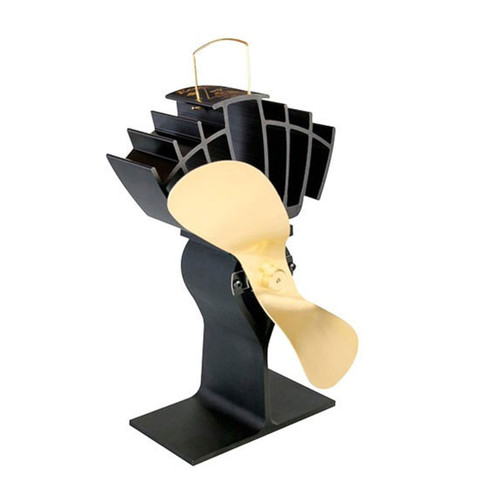 EcoFan UltrAir Heat Powered Wood Stove Fan - Gold Colored Blades