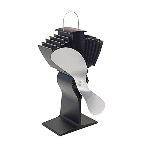 EcoFan AirMax Heat Powered Wood Stove Fan - Nickel Colored Blades