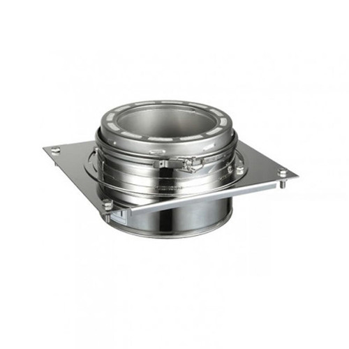 6'' EcoVent USA Stainless Steel Tee Support Bracket