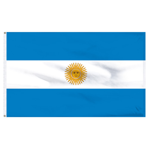 Argentina 2ft x 3ft Nylon Flag with Seal