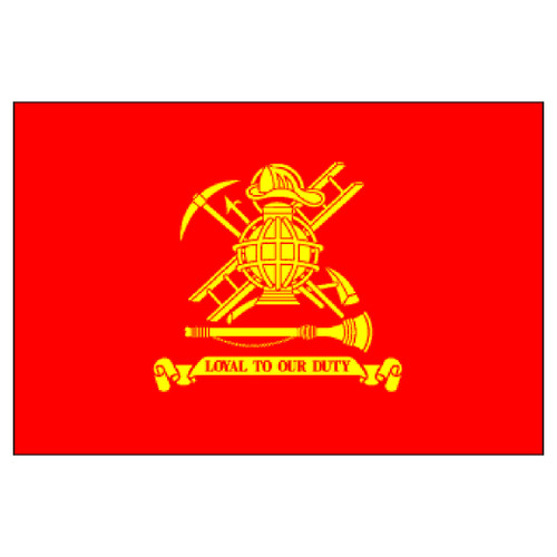 Firefighter Flag 12in x 18in Stick Flag - Loyal to Our Duty