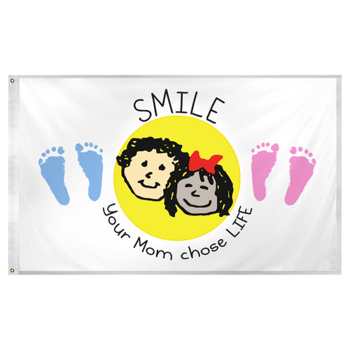 Choose Life Flag 3ft x 5ft Super Knit Polyester