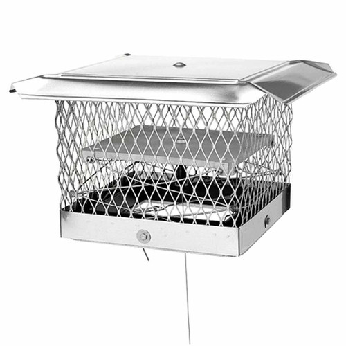 8''x17'' Lock-Top II Chimney Cap-Damper