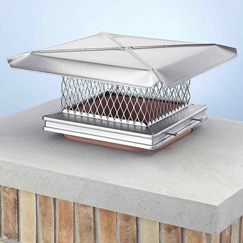 8'' x 8'' Gelco Stainless Steel Chimney Cap
