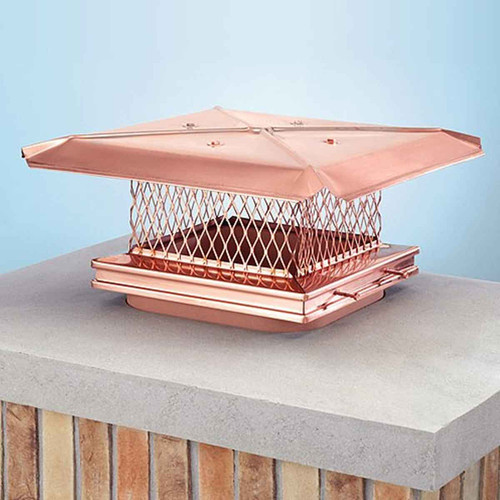 8''x17'' Gelco Copper Chimney Cap