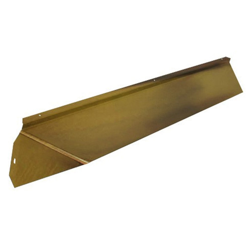 Elite Fireplace 36'' Canopy Hood 6'' Wide Track Mount - Antique Brass