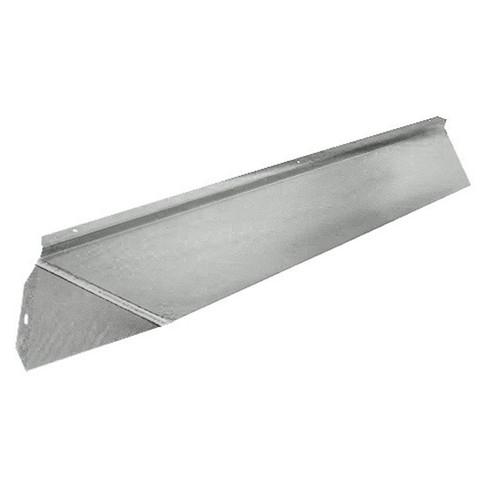 Elite Fireplace 36'' Canopy Hood 6'' Wide Track Mount - Satin Chrome