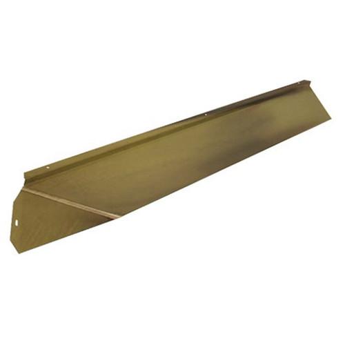 Elite Fireplace 42'' Canopy Hood 6'' Wide Track Mount - Polished Brass