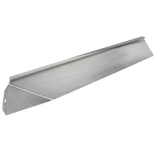 Elite Fireplace 48'' Canopy Hood 6'' Wide Track Mount - Satin Chrome