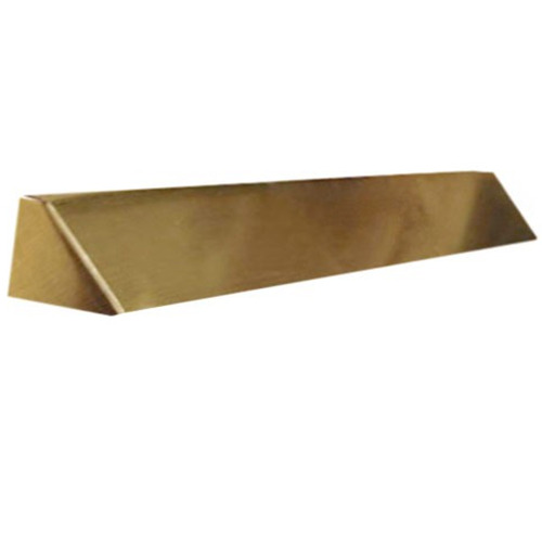 Elite Fireplace 42'' Square End Hood with 10'' Lintel Mount - Polished Brass