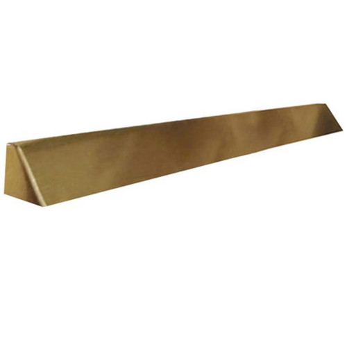Elite Fireplace 56'' Square End Hood with 10'' Lintel Mount - Polished Brass