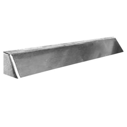 Elite Fireplace 48'' Square End Hood with 2'' Lintel Mount - Satin Chrome