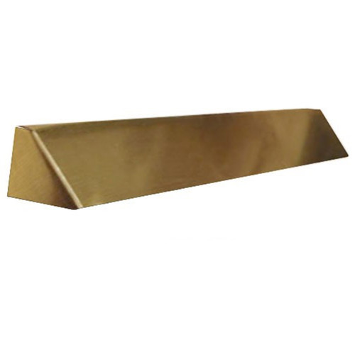 Elite Fireplace 36'' Square End Hood with 4'' Lintel Mount - Polished Brass