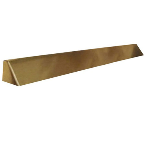 Elite Fireplace 56'' Square End Hood with 6'' Lintel Mount - Polished Brass