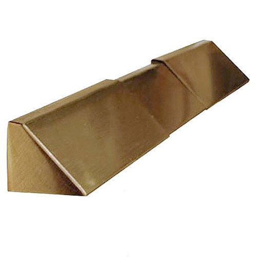 Elite Fireplace 4'' Adjustable Lintel Mount Hood - Polished Brass