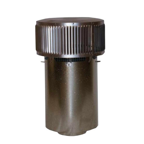 8'' Superior Round Chimney Cap with Louvered Screen and Slip Connector