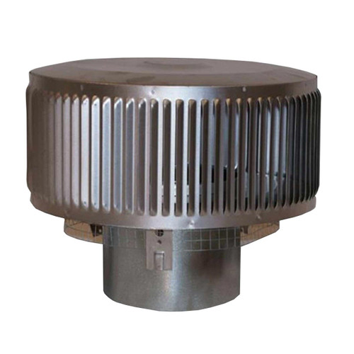 8'' Superior Round Chimney Cap with Louvered Screen