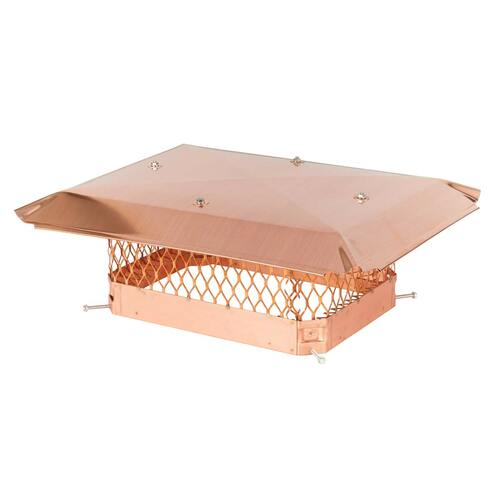 12'' x 16'' Copper Single Flue Chimney Cap