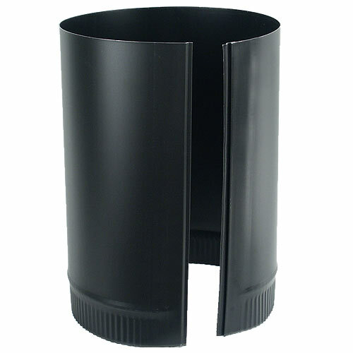 6'' x 12'' 24-Ga. Snap-Lock Black Stovepipe