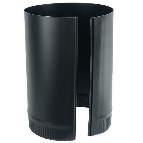8'' x 12'' 24-Ga. Snap-Lock Black Stovepipe