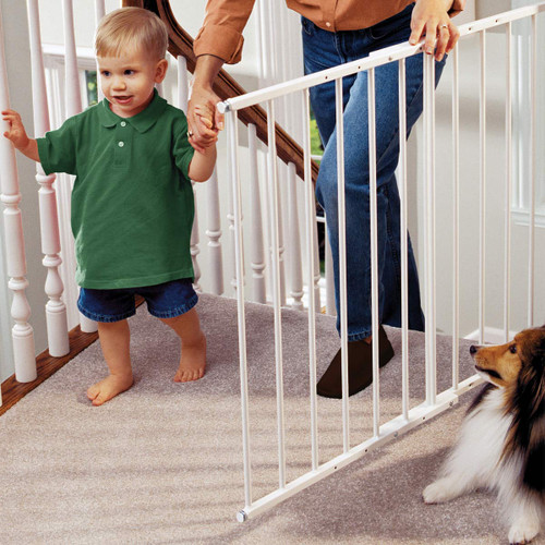 KidCo Safeway Top of Stair Baby Safety Gate - White