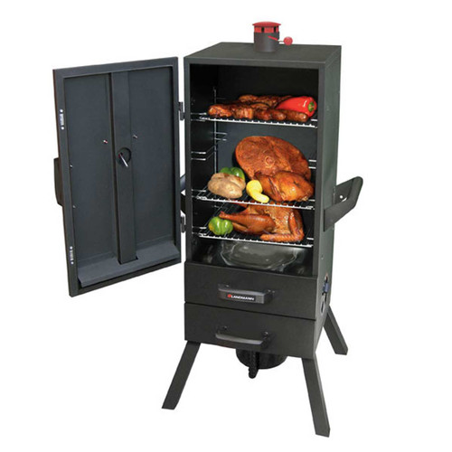 "34"" Charcoal 2 Drawer Vertical Smoker"