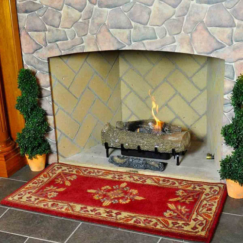 44'' Rectangle Vermillion Jardin Fireplace Rug