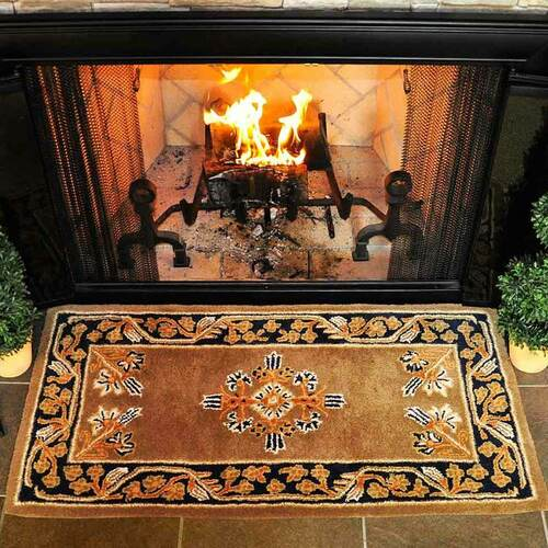 44'' Rectangle Cocoa Jardin Fireplace Rug