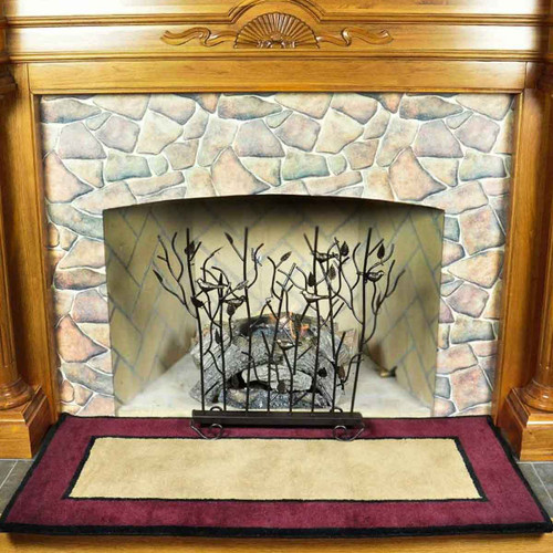 56'' Rectangle Berry Contemporary II Fireplace Rug