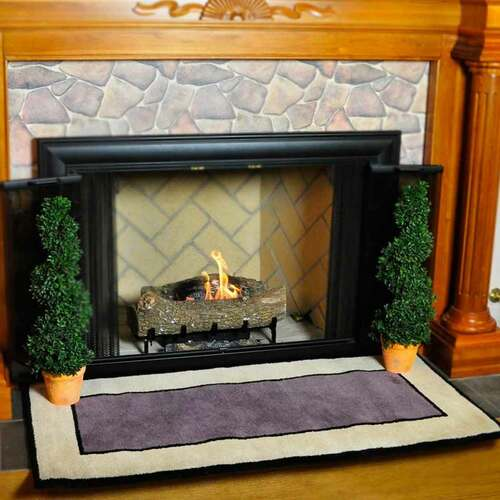 56'' Rectangle Dusk Contemporary II Fireplace Rug