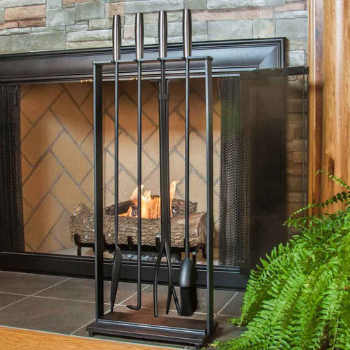 Pilgrim 5 Piece Modern Fireplace Toolset - Matte Black