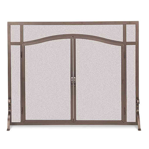 Pilgrim Forged Iron Arched Door Screen