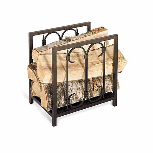 Pilgrim Iron Gate Wood Holder - Burnished Black