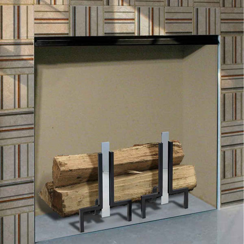 Polished Nickel Stapleton Fireplace Andirons