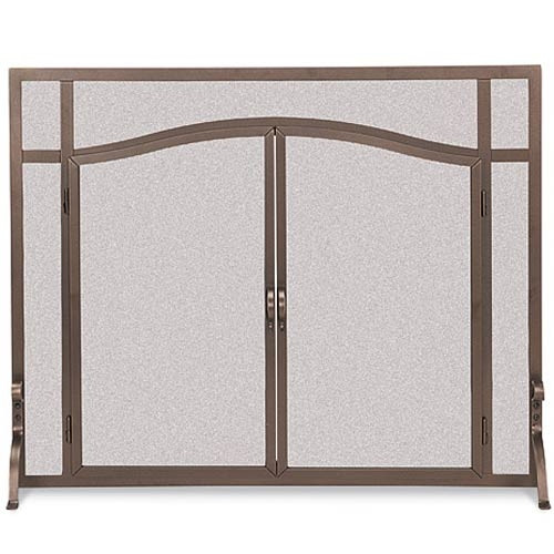 Pilgrim FGNDA Large Frame Custom Operable Door Arched Fireplace Screen
