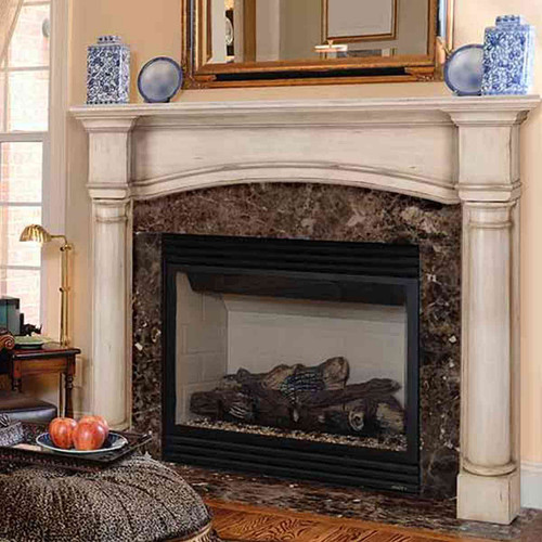 48'' Princeton Unfinished Fireplace Mantel by Pearl Mantels