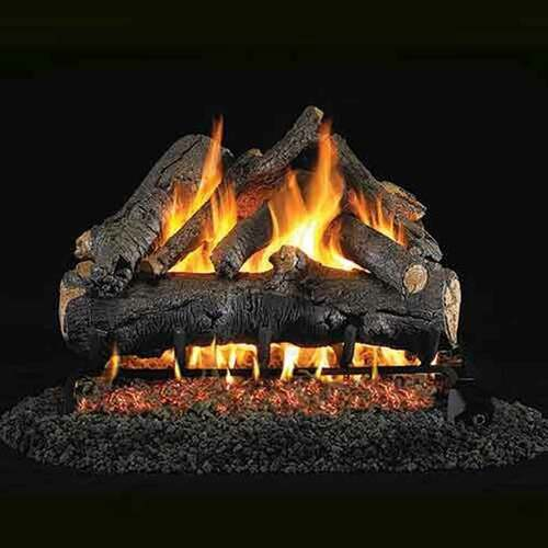 24'' Peterson Real Fyre Vented American Oak Gas Logs - Logs Only