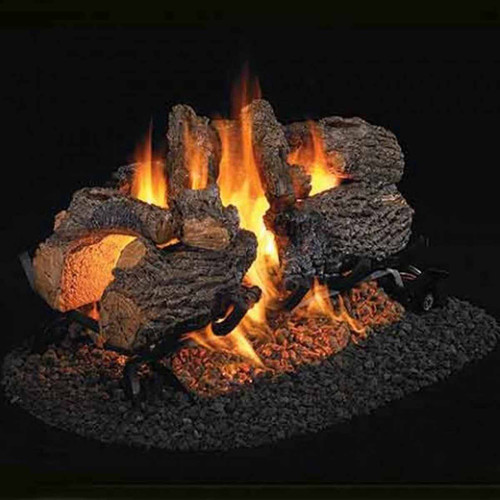 18''/20'' Peterson Real Fyre Vented Charred Oak Gas Logs - Logs Only
