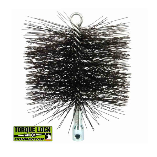12'' Round Heavy-Duty (Wire) Chimney Brush with Torque Lock Connector