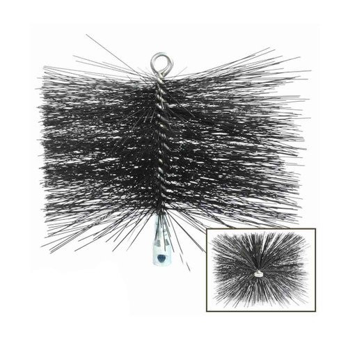 6'' x 10'' Rectangle Heavy-Duty (Wire) Brush with Torque Lock Connector