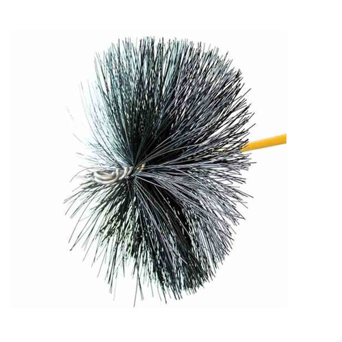 16'' Round Duct Cleaning Brush with Torque Lock Connector